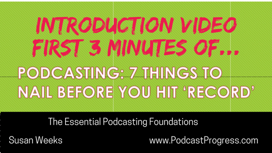 A 3 minute video of the introduction to a podcast presentation