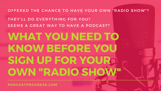 What you need to know before you sign up for your own radio show