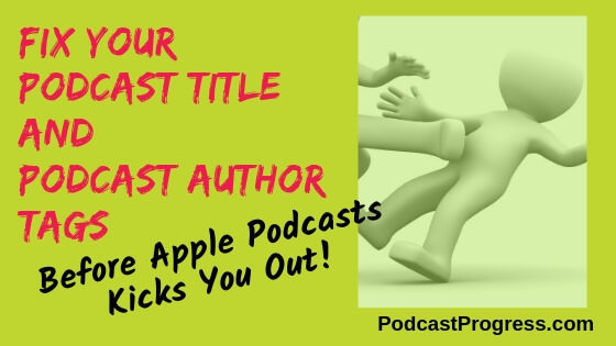 Fix your podcast title and author tags